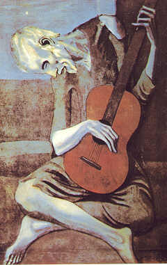picasso's the old guitar plater