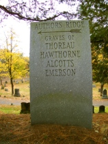 Author's Ridge in Sleepy Hollow Cemetery