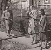 O'Connor at the University of Iowa with Arthur Koestler and Robie Macauley