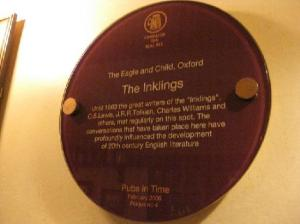The Inklings met regularly at The Eagle and Child, Oxford.
