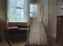 Emily Dickinson's dress, The Dickinson Homestead (Photo: Jerome Liebling, Amherst Magazine)
