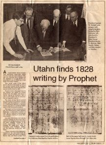 Mormon forgery