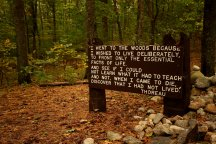 Quotation from Thoreau's Walden (wiki)