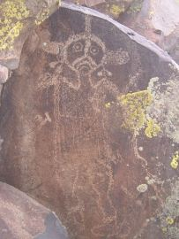Puebloan rock art: the sad woman