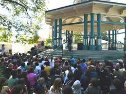 Book Reading at the Festival Bandstand
