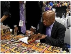 Lewis book signing