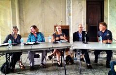 DBF Panel (L-R): Gina Webb, Teresa Weaver, Kate Tuttle, Lev Grossman, Charles McNair