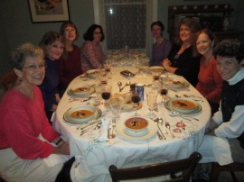 L-R: Janet, Andrea, Brenda, Jessica, Claudia, Chrinda, Susan, Eve (Chris behind the camera)