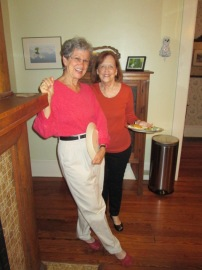 Blog BFFs Janet and Susan share a smile.