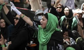 Iranian Women Protesters in Tehran mid 1970s.