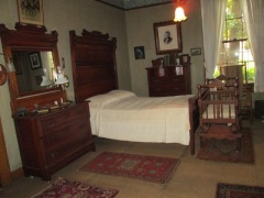 Harris's bedroom, unchanged since his detah