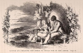 Eliza Reading the Bible to Uncle Tom by H. Billings