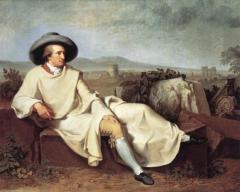 """""""Portrait of Goethe,""""  Johann Friedrich August Tischbein"""