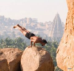 HawaH yoga pose