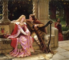 """""""The End of the Song"""" (Tristan and Isolde)  by Edmund Leighton"""