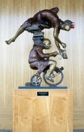 Book Peddlers, 2002, bronze by Jack Morford