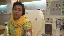 Ms. Shahnaz Abdulwahaz, Afghan dialysis patient. In Iran, only Iranian citizens can get transplants at government expense.