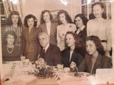 1946: Mr. Frost with students at dinner given in his honor.