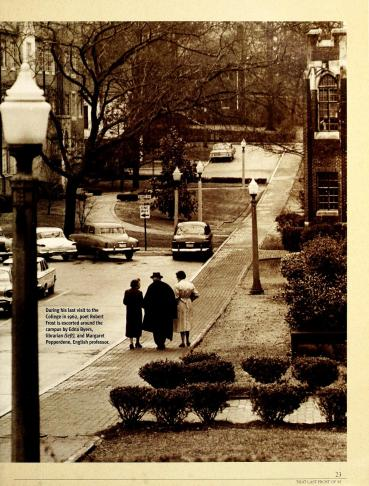 1962: Robert Frost's last visit to Agnes Scott College,  escorted by Edna H. Byers and Margaret W. Pepperdene (Agnes Scott Archives)