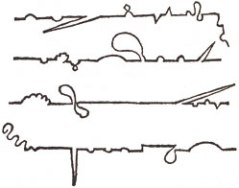 Plot Maps, Books 1-4, as drawn by Tristram Shandy himself