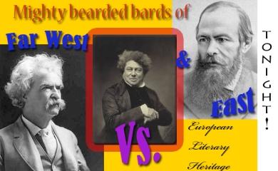 (L-R) Twain, Alexander Dumas, Fyodor Dostoevsky