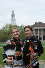Louise Erdrich ('76) and her daughter Aza ('11) attend the Dartmouth Pow Wow in 2009. Photo: Joseph Mehling ('69) now.dartmouth.edu