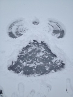 Snow Angel on Frozen Bear Lake