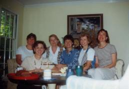 Lynn Cullen and Her Writing Sisters from the 90s (Cullen on far right)