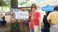Our own Brenda Lloyd at the Atlanta Writers Club tent
