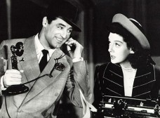Rosalind Russell and Cary Grant play newspaper reporters in His Girl Friday (wiki).