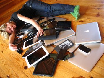 """Cuddling with Multiple Devices"" (Jeremy Keith, Flickr)"