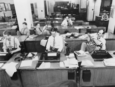 The New York Times newsroom, 1942 (wikimedia)