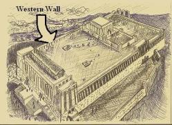 The Second Jewish Temple, before its destruction by Rome in 70 A.D. The Western Wall is now known as The Wailing Wall. (biblewalks.com)