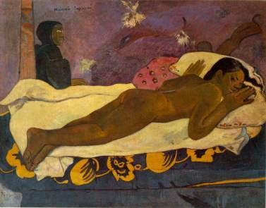 """Yes, I was Gauguin's thirteen year old mistress. I even had a name : Teha'amana."""