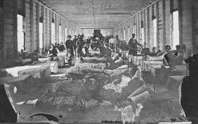 Interior of a Civil War military hospital 9 http://spotlights.fold3.com/)