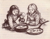 Laura Ingalls Wilder, making Maple Syrup Snow Candy (from motherskitchenblogspot.com)