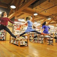 Elliott Bay Books: An impromptu shot of members of the pacific Northwest Ballet by photographer Jordan Matter.