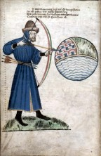 john-gower-shooting-the-world-a-sphere-of-earth-air-and-water-from-a-manuscript-of-his-works- (en.wikipedia.org)