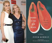 Taylor Schilling, actress, & Piper Kerman, author, (snackcrackerwatch.com))