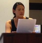 Ivan Gold Fiction Fellow Cynthia Gunadi at a Writers' Room public reading
