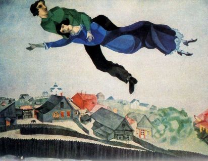 """Over the Town"" by Marc Chagall, 1918"