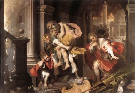 """Aeneus' Flight from Troy"" by Federico Barocci"