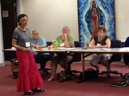 Ann teaching Writing Memoir at UTS 2015.