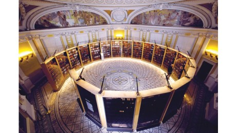 The circular exhibit of Thomas Jefferson's Library (washington.org)