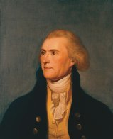 Thomas Jefferson, the State Room Portrait, by Charles Wilson Peale (Wikimedia)