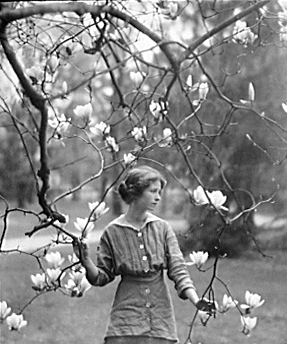 perhaps the most famous photograph taken of Millay. in the spring of 1913, by Arnold Genthe, at the estate of Mitchell Kennerley, publisher of The Lyric Year.