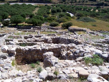Ruins of the palace at Gournia, on the Island of Crete. (photo by Eve Shulmister)