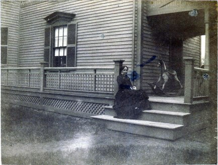 """Louisa May Alcott """"lost a great deal of weight in her last illness."""" (Archival photograph, Louisa May Alcott Memorial Association)"""