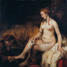 """Bathsheba at Her Bath"" by Rembrandt"