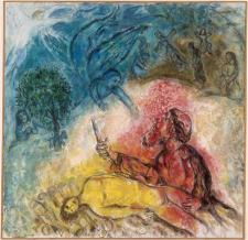 """The Sacrifice of Isaac"" by Marc Chagall"
